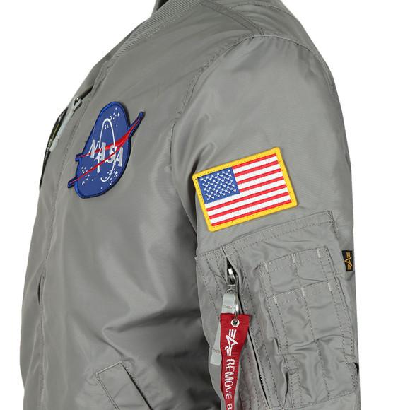 Alpha Industries Mens Silver MA-1 NASA Reversible Bomber main image