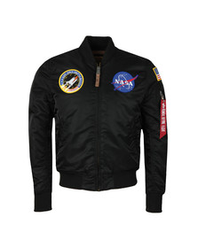 Alpha Industries Mens Black MA1 Nasa Jacket