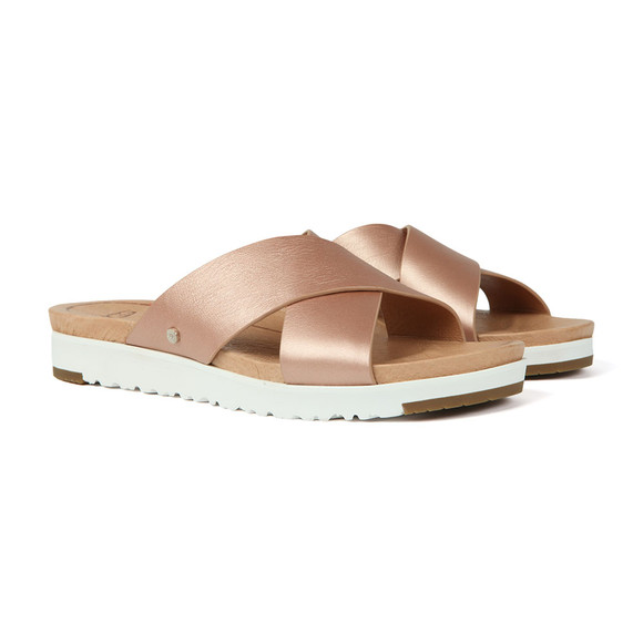 Ugg Womens Pink Kari Metallic Slide main image