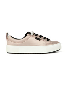 Karl Lagerfeld Womens Pink Luxor Lace Shoe