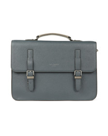 Ted Baker Mens Blue Crossgrain Satchel