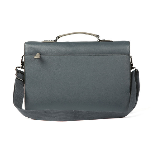 Ted Baker Mens Blue Crossgrain Satchel main image