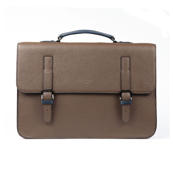Ted Baker Mens Brown Crossgrain Satchel main image