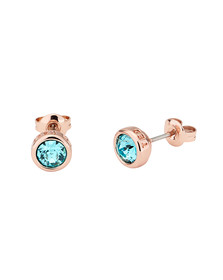 Ted Baker Womens Pink Turquoise/Rose Gold Sinaa Crystal Stud Earrings