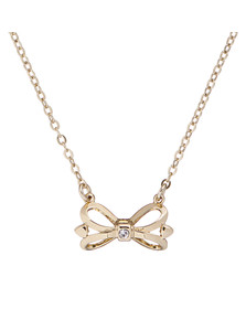 Ted Baker Womens Gold Hazela Bow Pendant