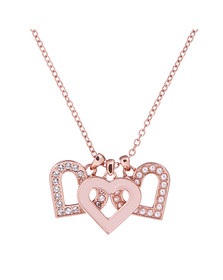Ted Baker Womens Pink Rose Gold Ezzrela Enchanted Heart Pendant