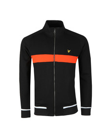 Lyle and Scott Mens Black Full Zip Funnel Neck Sweat