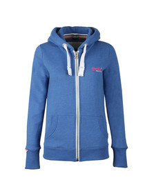Superdry Womens Blue Orange Label Primary Zip Hoody