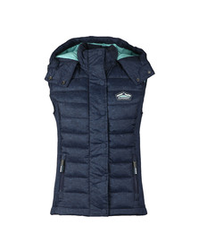 Superdry Womens Blue Fuji Slim Double Zip Vest