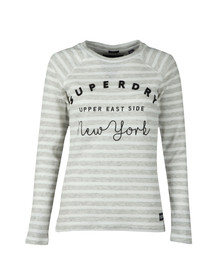 Superdry Womens Grey Applique Raglan Crew Neck Sweat