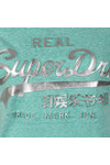Superdry Womens Green Vintage Logo Embossed Foil Tee