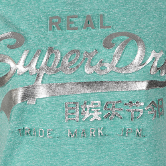 Superdry Womens Green Vintage Logo Embossed Foil Tee main image