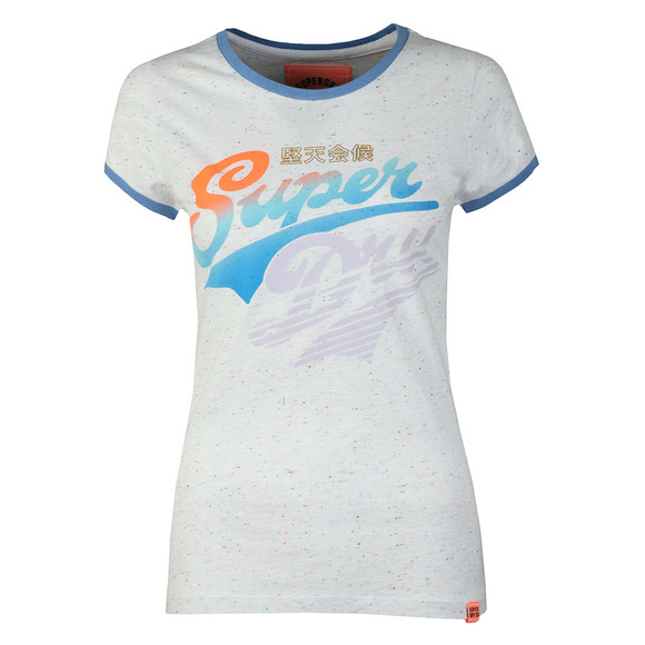 Superdry Womens Off-white Paradise Stacker Ringer Tee main image