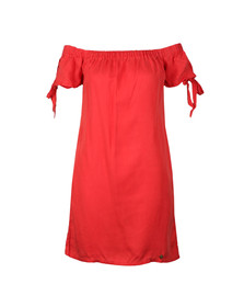 Superdry Womens Red Alexa Off Shoulder Dress