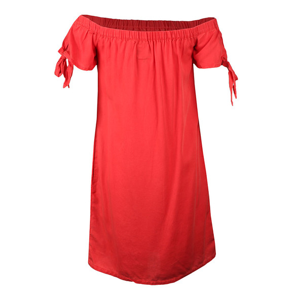 Superdry Womens Red Alexa Off Shoulder Dress main image