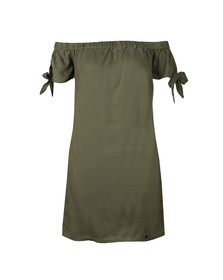 Superdry Womens Green Alexia Off Shoulder Dress
