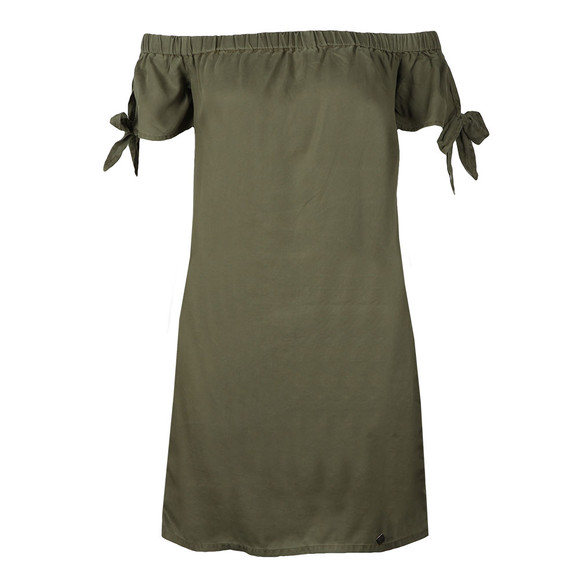 Superdry Womens Green Alexia Off Shoulder Dress main image
