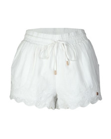 Superdry Womens White Jenna Embroidered Edge Short