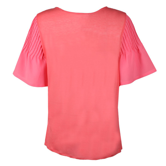 French Connection Womens Pink Classic Crepe Fluted Top main image