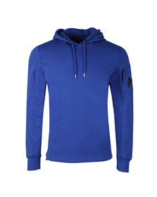 CP Company Mens Blue Viewfinder Sleeve Overhead Hoody