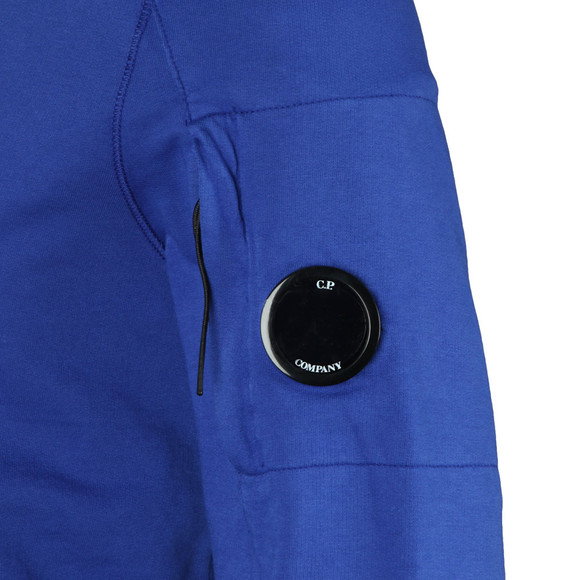 CP Company Mens Blue Viewfinder Sleeve Overhead Hoody main image