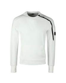 CP Company Mens Off-white Zip Detail Sweatshirt