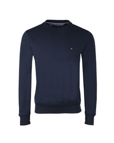 Tommy Hilfiger Mens Blue Logo Crew Sweat