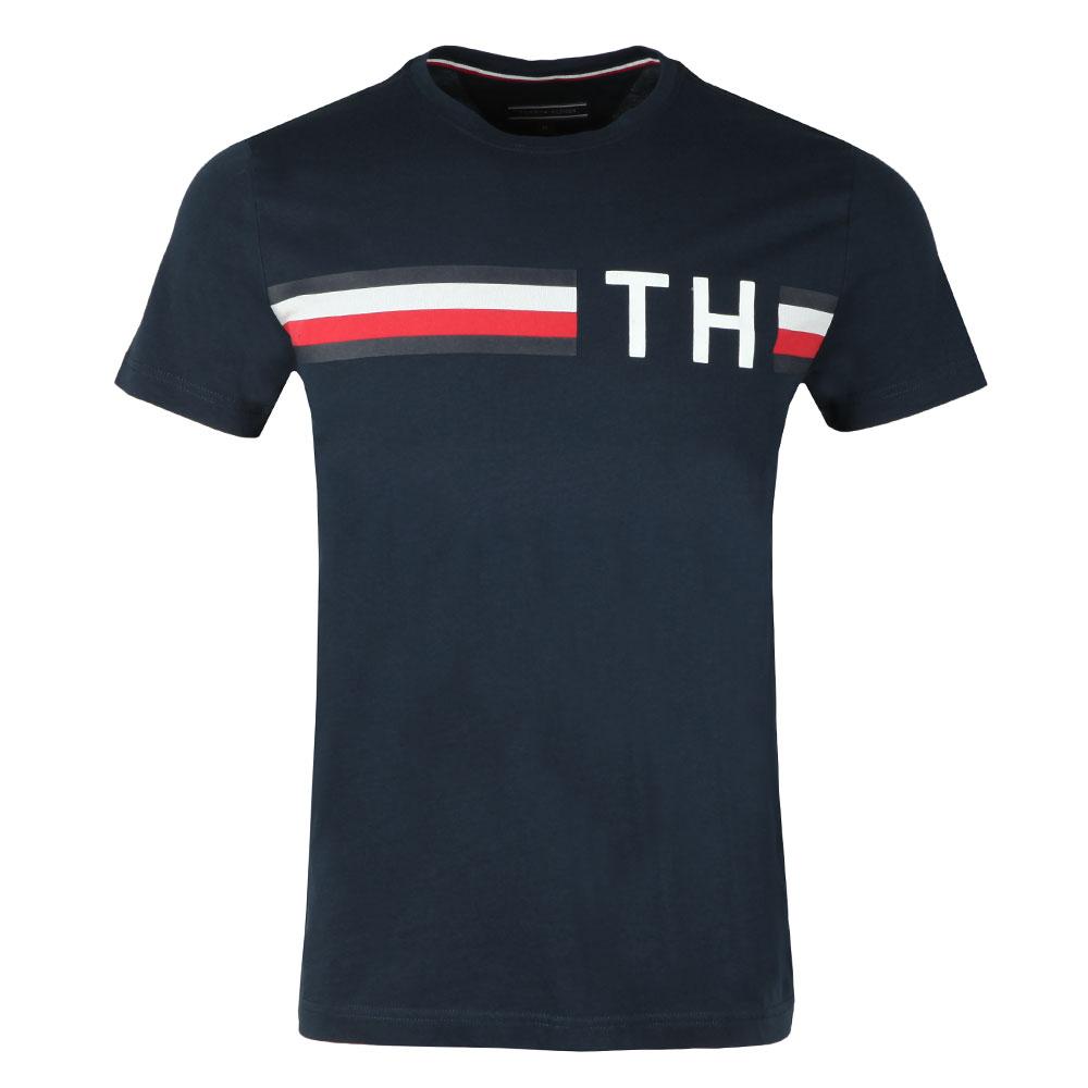 88ae3672 Tommy Hilfiger S/S Striped Logo Tee | Masdings
