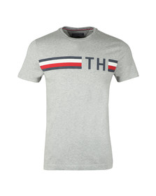 Tommy Hilfiger Mens Grey S/S Striped Logo Tee