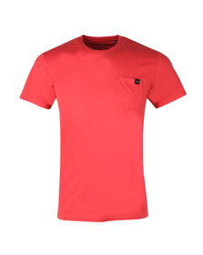 Edwin Mens Red Pocket T Shirt
