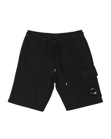 C.P. Company Mens Black Viewfinder Sweat Short