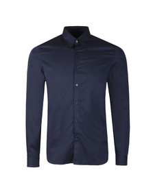 Fred Perry Mens Blue L/S Stripe Shirt