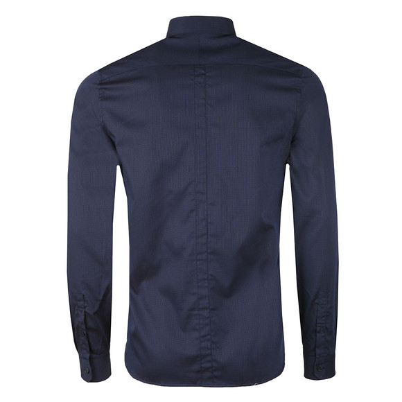 Fred Perry Mens Blue L/S Stripe Shirt main image