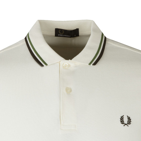 Fred Perry Mens Beige Twin Tipped Polo Shirt main image