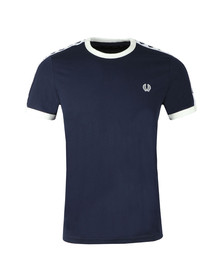 Fred Perry Sportswear Mens Blue Taped Ringer T-Shirt