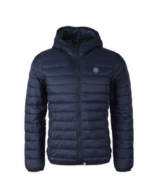 Pretty Green Mens Blue Lightweight Quilted Hooded Jacket