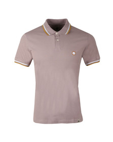 Pretty Green Mens Pink S/S Barton Tipped Polo