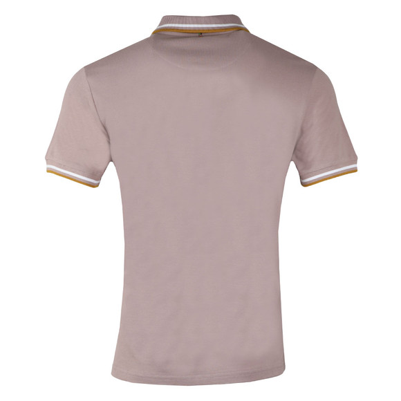 Pretty Green Mens Pink Barton Tipped Pique Polo main image