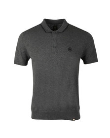 Pretty Green Mens Grey Tipped Knitted Polo Shirt