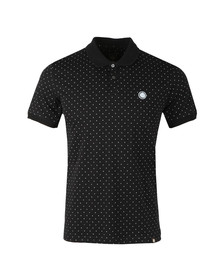 Pretty Green Mens Black Polka Dot Polo Shirt