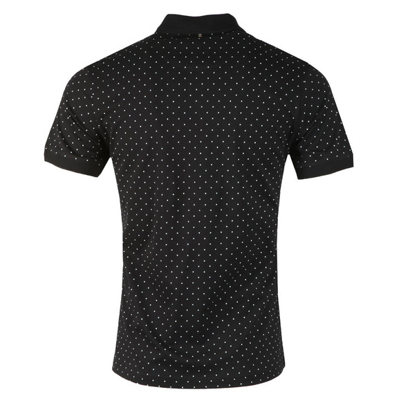Pretty Green Mens Black Polka Dot Polo Shirt main image