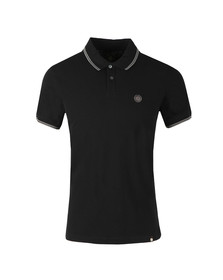 Pretty Green Mens Black Tipped Pique Polo Shirt