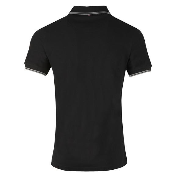 Pretty Green Mens Black Tipped Pique Polo Shirt main image