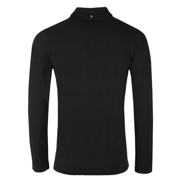 Pretty Green Mens Black LS Pique Polo main image