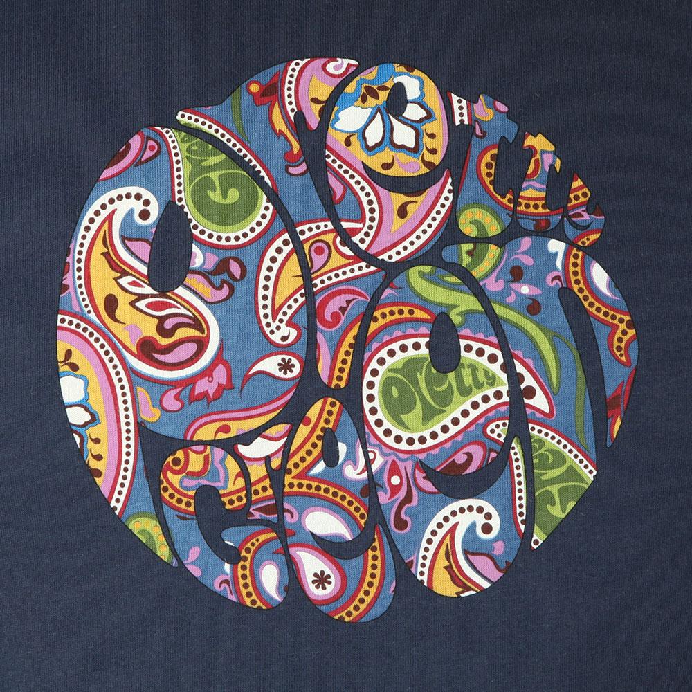 f4b02bcc0d Pretty Green Paisley Print Logo T-Shirt | Oxygen Clothing