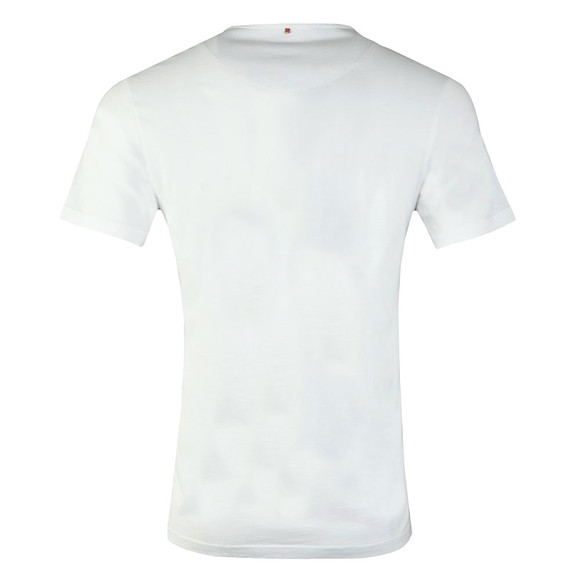 Pretty Green Mens White Paisley Print Logo T-Shirt main image