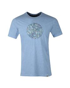 Pretty Green Mens Blue Paisley Applique T Shirt