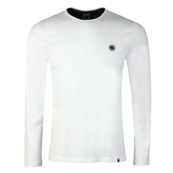 Pretty Green Mens White LS Cotton T-Shirt main image