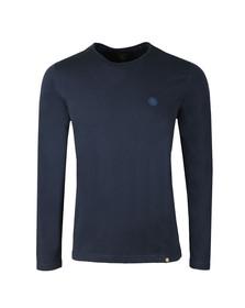 Pretty Green Mens Blue LS Cotton T-Shirt