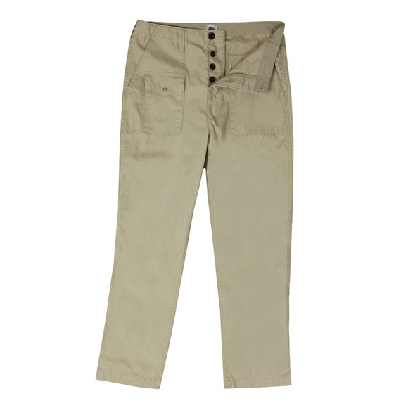 Pretty Green Mens Beige Multi Pocket Cargo Trouser
